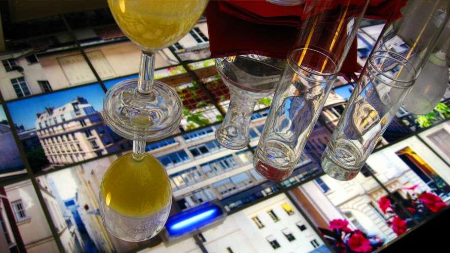 souvenir d'un verre, verre plein de souvenirs