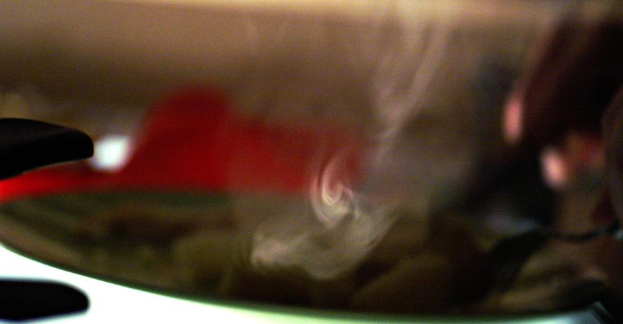 relevé d'une pointe de vapeur