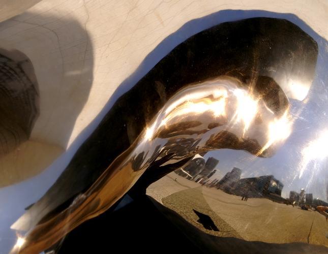 vision métallique courbe