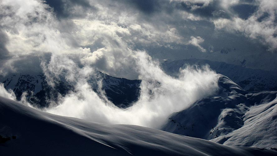 montagne démontée