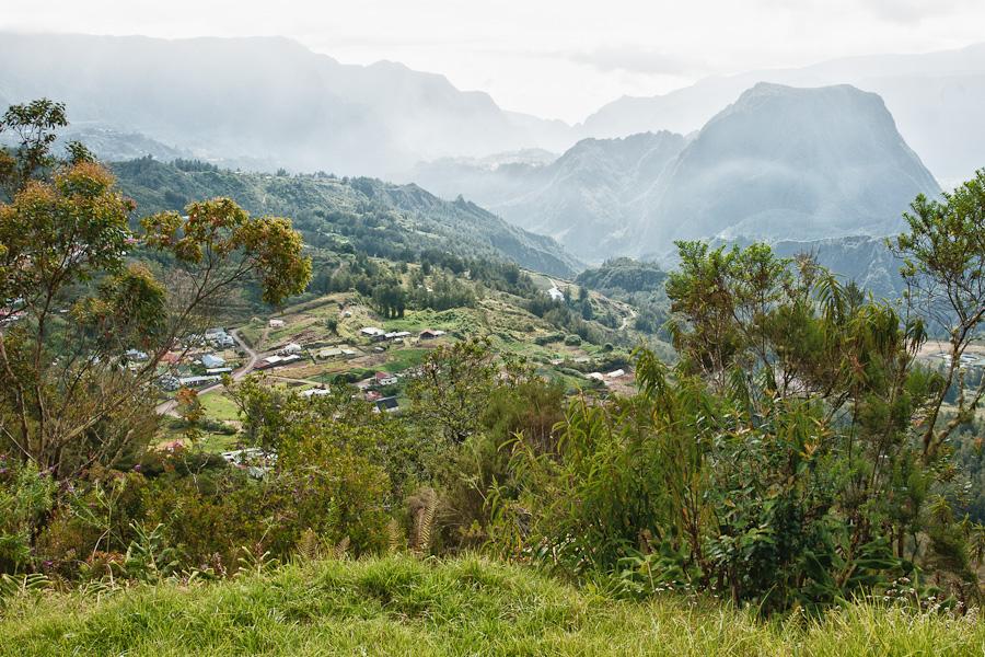 Salazie depuis le village du Bélier