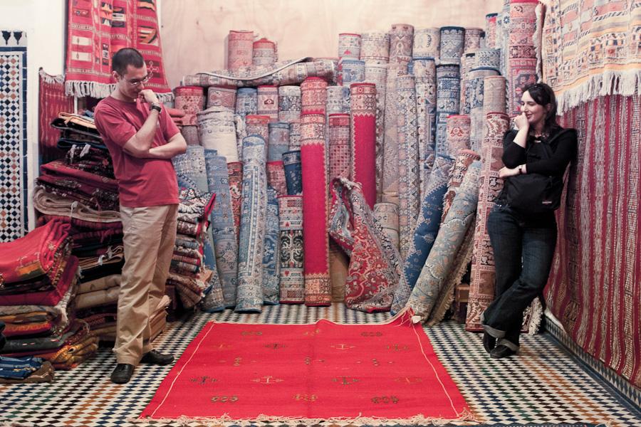 marchandage de tapis